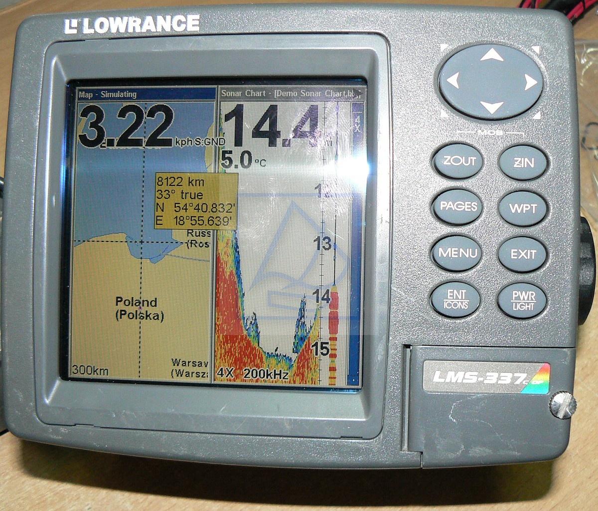 Echosonda Z GPS LOWRANCE LMS-339C Używana Sprawna Z Mapą