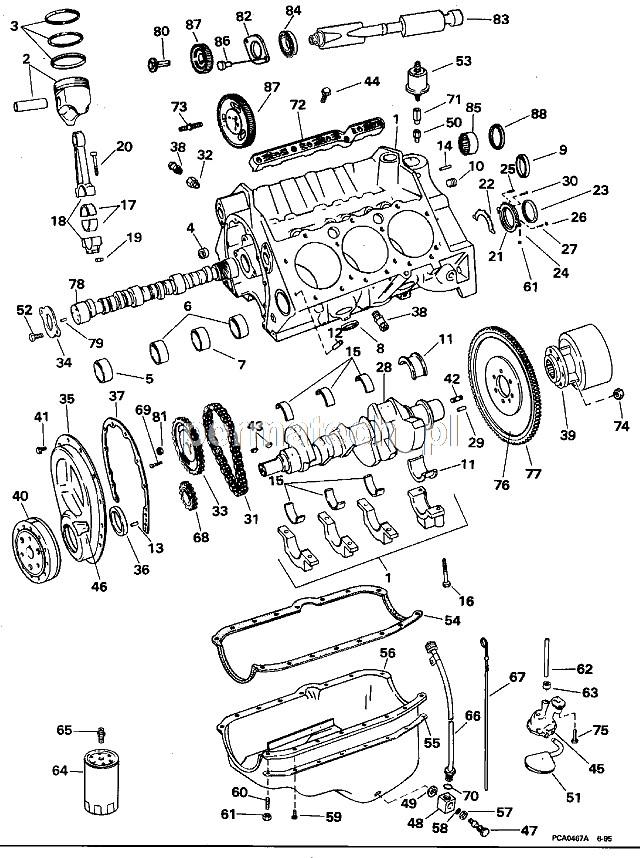 Kpl Panewek Gwnych Gm V6 262cid 43l 18 1311 Motorowki Pl